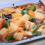 NHKきょうの料理は鶏むねの揚げない酢豚風、かにらたまレシピ!ほりえさわこのボルシーおかず