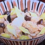 NHKきょうの料理は谷原章介の秋の彩り炊き込みご飯・即席みそ汁レシピ!清水信子・タイムレスキッチン