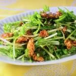 NHKきょうの料理ビギナーズは水菜と鶏そぼろのピリ辛炒め・水菜と豚肉のサッと煮レシピ!