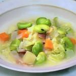 そら豆と野菜のミネストローネ・グリンピースとあさりのミルクスープ・絹さやとクレソンの梅スープレシピ!NHKきょうの料理