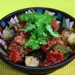なすとピーマンのパクチー肉詰め・鶏じゃがパクチーのカレー蒸し煮レシピ!NHKきょうの料理は荻野恭子