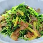 NHKきょうの料理ビギナーズは豆苗と豚肉のたくあん炒め・豆苗と厚揚げの煮物レシピ!