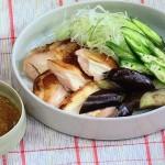 焼き鶏と夏野菜のごまみそがけ・豚しゃぶとわかめの梅風味サラダレシピ!NHKきょうの料理は白井操