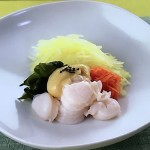 大原千鶴の帆立てとわかめのからし酢みそ・はまぐりうどんレシピ!NHKきょうの料理