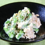 NHKきょうの料理はアスパラガスの厚揚げ白あえレシピ!ばあばの四季おかず