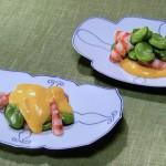 NHKきょうの料理はえびとそら豆の黄身酢あえ・むしり鷄と春野菜の更紗あえレシピ!ばあば