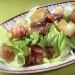 NHKきょうの料理ビギナーズはレタスとベーコンのパンサラダ・レタスとあさりのスープレシピ!