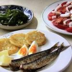 NHKきょうの料理はじゃがいももち・焼きピーマンのマリネ、トマトサラダ・いわしの塩焼きレシピ!