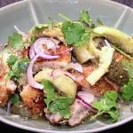 NHKきょうの料理はなすとチキンのエスニックサラダレシピ!ワタナベマキ