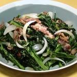 NHKきょうの料理は春菊と豚こまの粒マスタード炒め・中国風せりご飯・せりつくねの揚げだしレシピ!