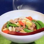 NHKきょうの料理は春野菜の五宝菜・わかめうどんレシピ!栗原はるみ