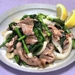NHKきょうの料理は豚肉と菜の花のレモンじょうゆ炒め・豚肉と春野菜のホットサラダレシピ!