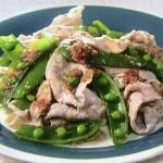 NHKきょうの料理ビギナーズはスナップえんどうと豚しゃぶの梅あえ・スナップえんどうとえびのシンプル炒めレシピ!